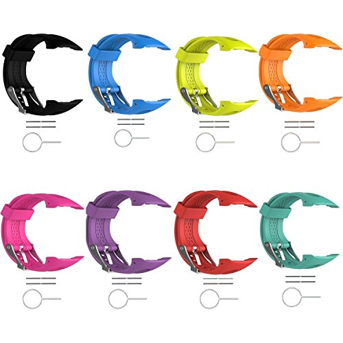 8pcs Turnwin Straps for Large Forerunner 15/Forerunner 10 Bands Replacement Wristbands for Garmin Forerunner 10/15 GPS Smart Watch (0.98