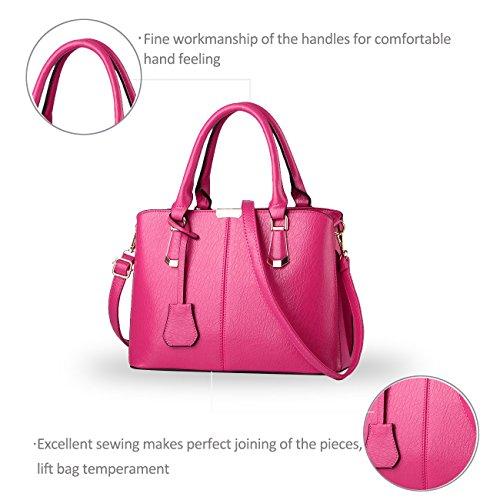 Nicole&Doris nuova borsa a tracolla minimalista borsa tendenza europea trasversale casuale del lavoro body bag(Red) rosa