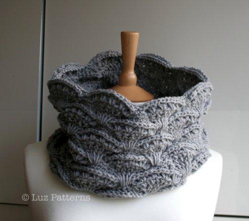 Crochet patterns, girl, women men lace cowl pattern, scarf crochet pattern, crochet cowl pattern (126) (English Edition) (Lace Cowl)