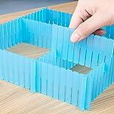 Variable Schubladenteiler, Organisation Von Schubladen, Zuschneidbar, 5Er-Pack, (18,7*1,97 Inch) - blau