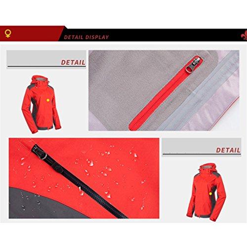 Frauen-Persönlichkeits-kreativer Regenmantel-erwachsener wasserdichter Regenmantel ( farbe : Rot , größe : S ) Rot