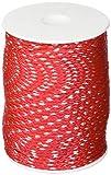 Overmann 008503000301000AA Cordeau de Maçon en Polypropylène, Rouge, 3 mm x 100 m