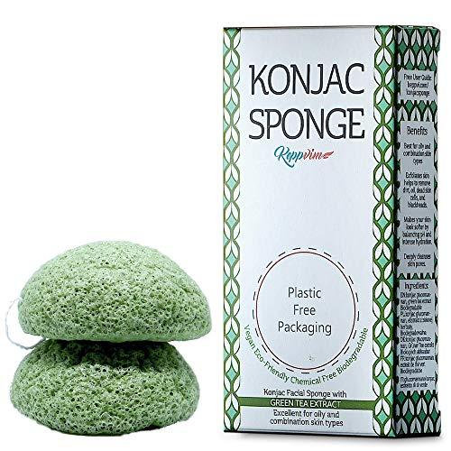 Esponja Konjac Limpiador Facial Orgánico - Té Verde