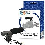 Ex-Pro ® Microphone stéréo directionnel de qualité professionnelle pour appareil photo reflex numérique et appareil photo vidéo numérique. (Jack 3,5mm)
