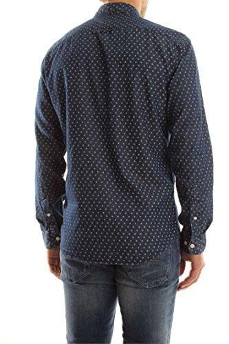 Selected Shhone-Nolanprint Shirt Ls, Chemise Casual Homme Multicolore (Medium Blue Denim)
