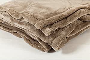 Toison d'Or NEGOC-008354 Couverture Polyester Taupe 240 x 260 cm