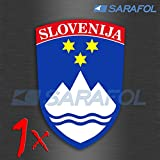 1Eslovenia Pegatinas (nº 009) Slovenija nalepke Pegatina 3,5x 5,0cm SLOVENIA