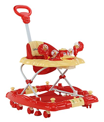 LuvLap Comfy Baby Walker with Rocker - Red
