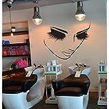 Mddjj Wimpern Makeup Wall Decor Mädchen Gesicht Schönheitssalon Wandaufkleber Frisur Friseur Dekor Spa Zimmer Wandtattoo Vinyl Wandbilder A802
