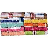 Casa Copenhagen-Basics Set Of 10 Pcs Terry Wash Cloth Napkins -(Assorted Any 10 Pcs Wash Towels)