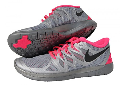 Nike 685712 001 Sneaker, Ragazza Argento (Reflect Silver/Black Hyper/Pink Wolf Grey)