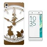 "459 - Vintage Clock Alice In Wonderland Design Sony Xperia XA Ultra 6.0"" Fashion Trend Protecteur Coque Gel Rubber Silicone protection Case Coque"