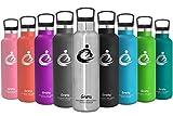 Grsta SportTrinkflasche Doppelte Vakuumisolierte Edelstahl-Thermosflasche -...