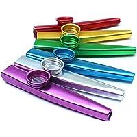 DDG EDMMS Flautas instrumentos musicales para guitarra, ukelele, violín, piano, regalo teclado para niños (color al azar / 2pcs)