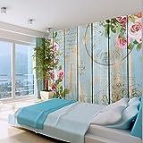 murando - Fototapete Blumen 350x256 cm - Vlies Tapete - Moderne Wanddeko - Design Tapete - Wandtapete - Wand Dekoration - Bretter 10110906-78