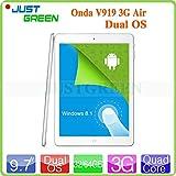 Tablet PC ARBUYSHOP Onda V919 3G aria dual boot con la chiamata di telefono Z3736F Quad Core 9.7inch 2048 * 1536 Retina 2 GB di RAM 32GB / 64GB ROM OTG WCDMA, 32GB standard n Caso