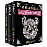 Creatively Calm Studios Erwachsene Färbung Bücher-Set - 3 Färbung Bücher für Erwachsene - 120 einzigartigen Tier-, Landschafts- u Mandala-Design.