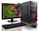 ADMI RD21 Gaming PC Package: Versatile Desktop Computer with 21.5 Inch 1080p Monitor, Keyboard & Mouse Set (AMD A6-6400K 4.1GHz Dual Core CPU with Radeon HD 8470D Graphics, USB 3.0, 500W PSU, 1TB Hard Drive, 8GB RAM, 24 x DVDRW Drive, Wifi, Red Devil Gaming Case, Pre-Installed with Windows 10 Operating System)