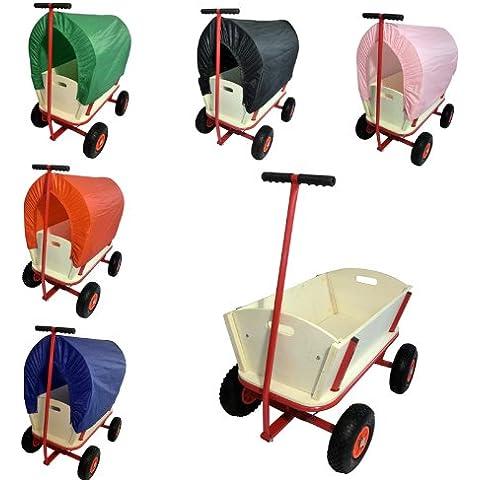 CLP Carro de transporte de madera, carretilla de mano, varios colores de tejado planeo para eligir sin