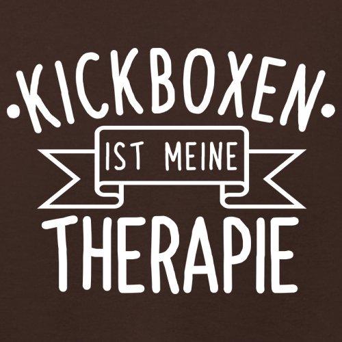 Kickboxen ist meine Therapie - Damen T-Shirt - 14 Farben Dunkles Schokobraun