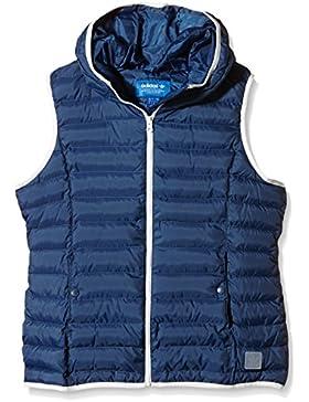 adidas Slim Vest - Sudadera para mujer, color azul marino / blanco, talla 32