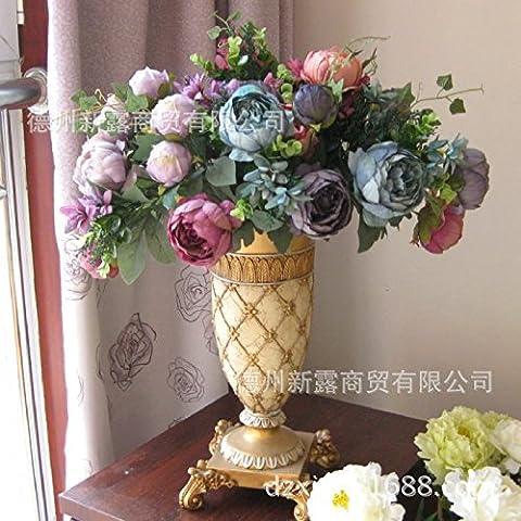 midtawer Vasi di fiori resina continentale Gold