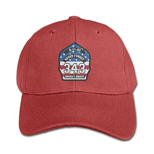 343 Firefighters Hero Pure Color Baseball Cap Cotton Adjustable Kid Boys Girls Hat (Schnelle Und Einfache Kostüme Boy)