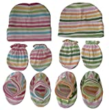 Sonpra New Born Baby Cotton Caps Mittens...