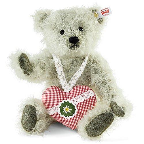 STEIFF 673894 Teddybär Alpenglück, 31 cm, grau, Mohair, limitiert