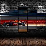 axqisqx 5-delig canvas afdrukken van moderne modulaire woning cultuur landschap kunst poster afbeelding schilderij geschenk F1 Red Bull Racing 30x40cmx2pcs 30x60cmx2pcs 30x80cmx1pcs