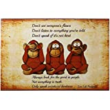 Posters Poster MAGGD FUNNY FUNKY THREE MONKEY | Posters 12 X 18 | Posters For Room | Inspirational Poster | Posters Success | Poster 12 X 18 | Posters For Room | Posters For Boys Room Funny | Poster For Room | Inspiring Design Collection | Quotes And Mess