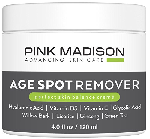 Pink Madison Dark Age Spot Corrector Cream Remover Treatment for Face Hands Body Circle (4 oz)