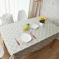 Motivi geometrici rettangolare tovaglia di lino tovaglia da pranzo elegante 140x220cm 55x87 inch