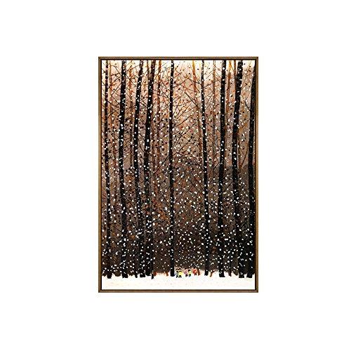 LongYu Wandmalerei moderne abstrakte Wohnzimmer Sofa Hintergrund Wand vertikale Gang Kunst hängenden Malerei Eingang dekorative Malerei (Size : 50*70CM) (90 Schwarz-tintenstrahl)