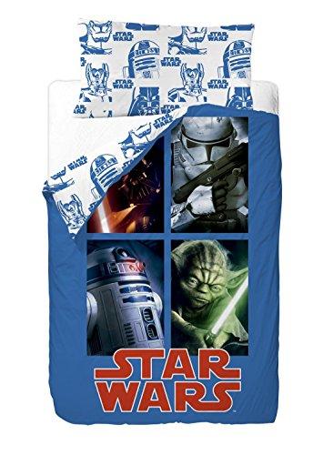 Disney Star Wars Sides - Saco nórdico de 2 piezas para cama de 90 cm