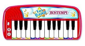 Bontempi Electronic Keyboard - Juguetes Musicales (Juguete Musical, 3 año(s), Niño/niña, Negro, Rojo, Blanco, Italia, Batería)