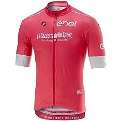 Castelli Maillot De Ciclismo De Manga Corta 2018 Giro Squadra Rosado (M, Rosado)