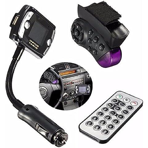 Tongshi Kit de coche del transmisor de FM Bluetooth Wireless USB Reproductor MP3 SD LCD manos libres remoto