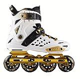 Skate-Schuhe Tyrant Gold Erwachsene Schlittschuhe Für Männer und Frauen Erwachsene Inline-Skates Schuhe Für Männer und Frauen,White-35