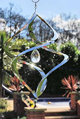 Wind Sculpture Stainless Steel and Crystal OGD201