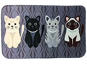 Zinsale Cartoon Cat Pattern Non Slip Area Rug Decorative