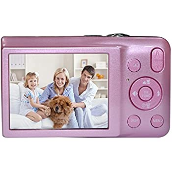 Fotocamera digitale compatta, Stoga fotocamera digitale DC-V100 mini Macchina fotografica digitale compatta 5 x Zoom zoom digitale 8 x 2,7 pollici camera ottica TFT LCD HD digitale compatta - rosa