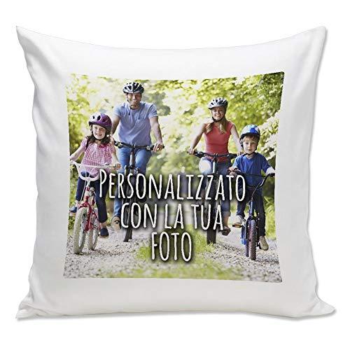 Cuscino personalizzato con foto - bianco, 40x40 cm - con imbottitura