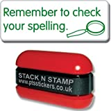 "Primary Teaching Services ""Remember to Check Your Spelling"" School Marking Stamper"