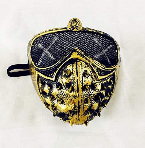Z&J Halloween Punk Devil Cos Spiel Peripheren Watchdog Maske Maske Nieten Death Cool,B,1