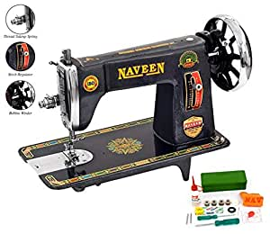 Naveen Sewing Machine Domestic Steamline Model Head (Metallic Grey Color)-1