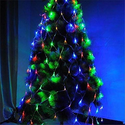 LUCKY CLOVER-ANoël 6 m * 4 m String Mesh net Fairy Lights imperméable à l'intérieur décoration extérieure 8 modes flash 880 LED (acheter en paire plus cher) , A
