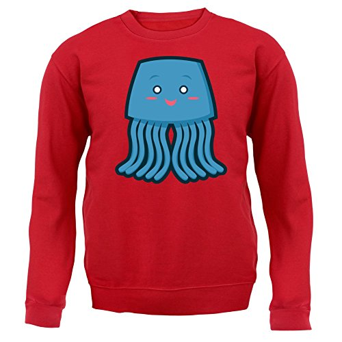Cute Whale - Unisex Pullover/Sweatshirt - 8 Farben Rot