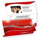 Einladungskarten Hochzeit Rote Liebe 20 Sets