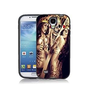 Case Schutzrahmen hülse Karte Karten Card Casino Cad04 Abdeckung für Samsung Galaxy Core 2 Border Gummi Hartkunststoff Tasche Schwarz